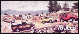1978 Jeep CJ5 CJ7 Cherokee Wagoneer J10 J20 Pickup Brochure Renegade Chi... - $6.55