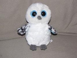 "TY BEANIE BOOS SPELLS WHITE BLUE BIRD OWL 2012 NON-GLITTER SOLID EYES 6""... - $17.86"