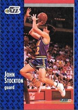 John Stockton ~ 1991-92 Fleer #203 ~ Jazz - $0.05