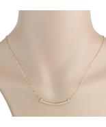 UE- Sleek Rose Tone Designer Bar Necklace With Pave Set Swarovski Style ... - $15.99