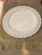 "VHTF MacBeth-Evans Oxford White Opalescent Milk Glass Charger or Cake Plate 12"" - $25.95"