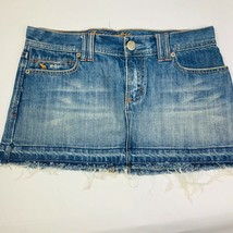 Abercrombie and Fitch Womens SZ 2 Cut Off Jeans Shorts Blue Frayed Cotto... - $30.39