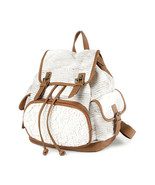 Burlington Ivory Crocheted and Woven Backpack School Book Bag - NWT - $28.79