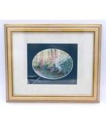 """Azalea Bank Barbara Hails Matted Framed Floral Bushes Print Art 12"""" BONU... - $19.99"""