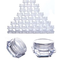 Plastic Cosmetic Jars Lip Balm Lip Gloss Cream Makeup Clear Containers 3... - $9.67