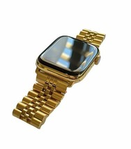 24K Gold Plated 44MM Apple Watch SERIES 6 Stainless Steel 2 Tone Band GPS LTE O2 - $1,376.55