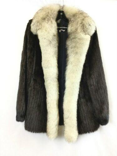 Vintage Maison Blanche Saga Mink Women's Dark Brown Fur Coat Size 10