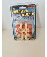 Brain Teaser Real Wood 3D Puzzle, Brand New & Sealed - $12.40