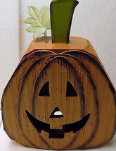 Wooden Jack-o-Lantern 13.5-Inches High - $26.00