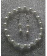 Glass Pearl Bracelet Earrings  - $0.00