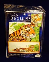 Ken Lilly Tigers Counted Cross Stitch Kit Natures Window Kenneth Lilly S... - $14.84