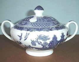 Johnson Brothers Willow Blue Sugar Bowl with Lid New Boxed - $54.90