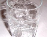 Vintage (4) Mini Juice Libbey Pressed Hexagon Shaped Clear Collectible Glass