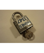 National Padlock 7/8-in Shackle Gray Steel - $7.24