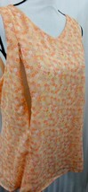 Breastfeeding Nursing Size 2X Peach Floral Zip To Feed Flare Tank Lined NEW - $10.44