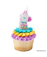 LLAMA CANDLE Cake Cupcake Kids Birthday Decoration Top Favors Supplies V... - $9.85