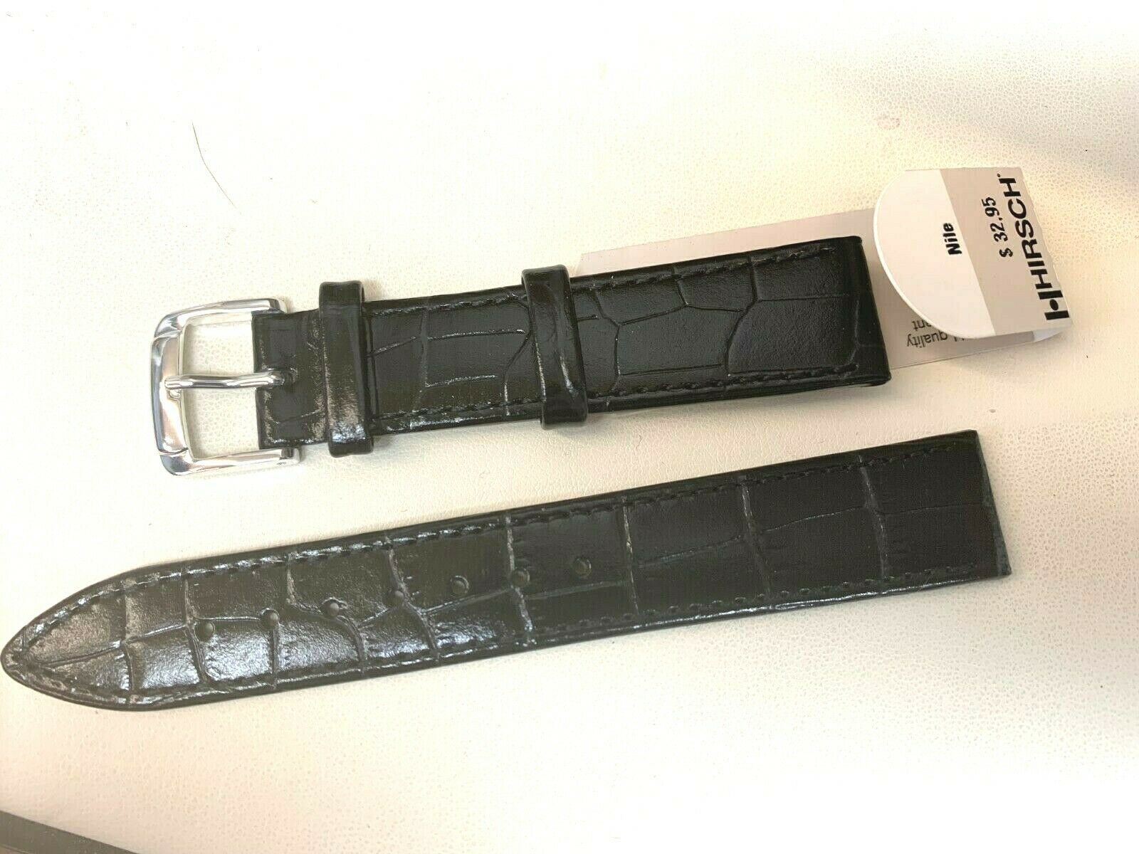 Primary image for HIRSCH NILE 18MM CLASSIC GENUINE LEATHER ALLIGATOR GRAIN WATCH BAND VINTAGE