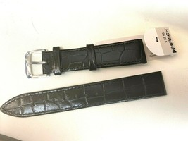 HIRSCH NILE 18MM CLASSIC GENUINE LEATHER ALLIGATOR GRAIN WATCH BAND VINTAGE - $27.83