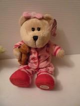 Starbucks Bearista Bear Plush Stuffed Pink Pajamas 2007 69th Edition 10 - $14.85
