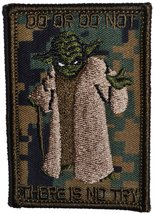 Yoda DO OR DO NOT - 3X2 Morale Patch (Woodland Digital Marpat) - $5.87