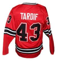 Marc Tardif #43 Michigan Stags Retro Hockey Jersey New Sewn Red Any Size image 2