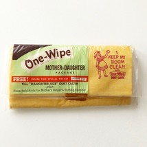Vintage One-Wipe Dust Cloth Mother & Daughter Package Extra Heavy NIP  - $25.22