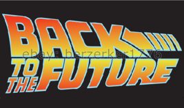 Back To The Future logo 1980's 3'x5' black Flag Marty McFly USA Seller S... - $25.00