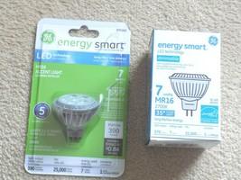 Lot of (2) GE Energy Smart MR16 Dimmable 7 Watt Accent Light Bulbs-Lasts... - $9.78