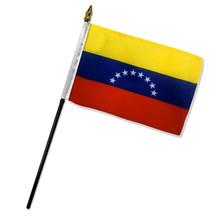 "Old Venezuela 8 Star 4""x6"" Flag Desk Table Stick (sewn edges) - $5.44"