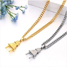Gold Silver Metal Submachine Hatet Maxi Pistol Necklace & Pendants 2 - $6.14