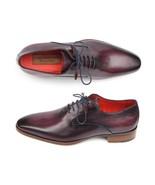 Paul Parkman Handmade Men's Plain Toe Oxfords Purple Shoes - $382.00