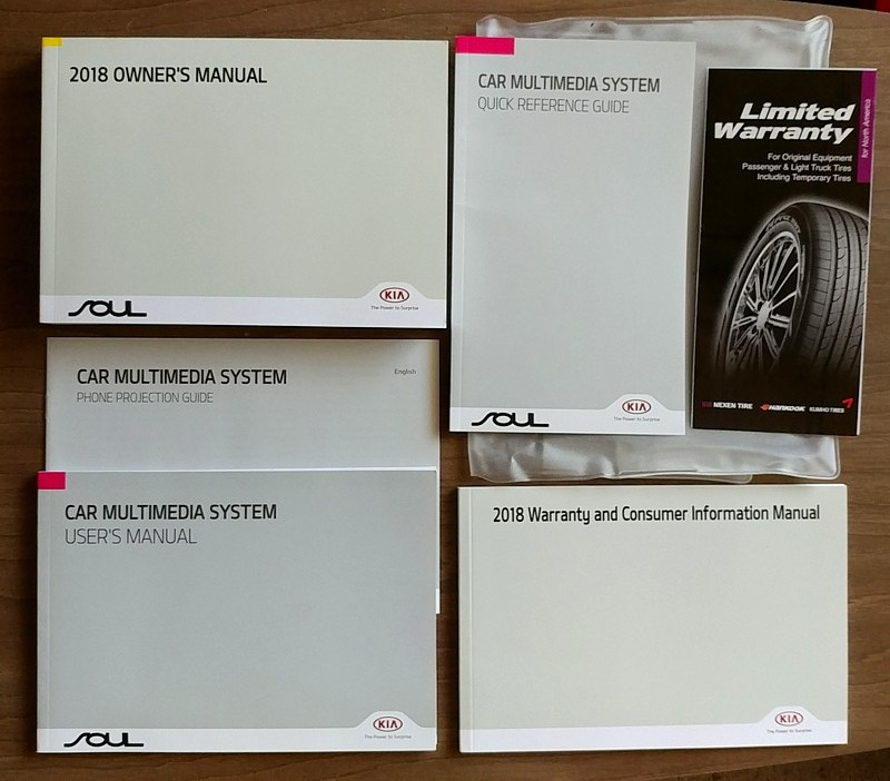 2018 Kia SOUL owner's manual book guide set case 18