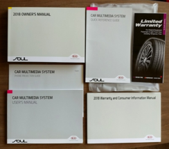 2018 Kia SOUL owner's manual book guide set case 18 - $20.00