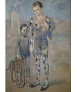 PICASSO SIGNED 1954 LITHO PRINT w/COA. unique Pablo Picasso Print VERY R... - $195.00
