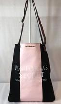 Victoria's Secret Handbag Getaway Crossbody Tote Pink Black Stripe London Purse - $13.01