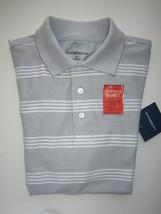 Croft & Barrow Traveler Short Sleeve Men's Polo T-Shirt Gray S MSRP $34 - $12.91