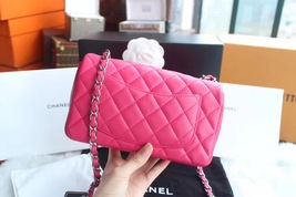 AUTHENTIC CHANEL PINK QUILTED LAMBSKIN LARGE RECTANGULAR MINI CLASSIC FLAP BAG  image 3