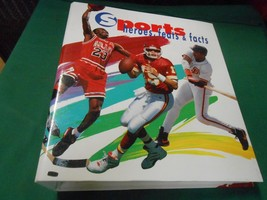 """Looseleaf Album-3 Ring Binder SPORTS """"Heroes,Feats & Facts"""" Vol.1..All Sports - $24.34"""