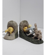 "Disney Classic Winnie The Pooh Book Ends - CHARPENTE ""Stuck At Rabbit's ... - $34.46"