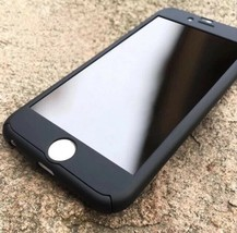 iPhone 7 Plus Black shockproof 360 Full cover Protection Case w/glass sc... - $12.34