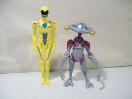 LOT OF 2 POWER RANGERS MOVIE ACTION FIGURES YELLOW RANGER ALPHA 5 BANDAI... - $18.57