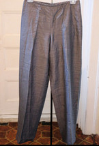 Liz Claiborne 6 Pants Gray Wool Blend Lined Dress Slacks - $19.58
