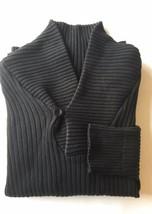 Calvin Klein Jeans Men Fishermen Sweater Ribbed Black Large Cotton - $23.32