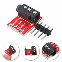 3.5mm Plug Jack Stereo TRRS Headset Audio Socket Breakout Board Extensio... - $6.29