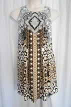 INC International Concepts Dress Sz L Black Multi Tribal Pais Leopard Co... - $59.35