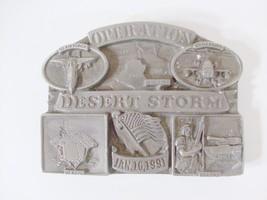 Operation Desert Storm belt buckle with dates a... - $18.25