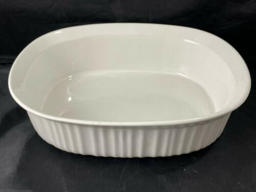Corningware Casserole Baking Dish French White 2-1/2 Quart Stoneware - $32.67