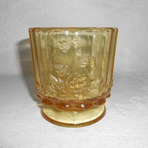 Westmoreland Paneled Grape, Topaz / Honey Footed Vase or Planter - $28.00
