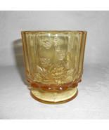 Westmoreland Paneled Grape, Topaz / Honey Footed Vase or Planter - $28.00