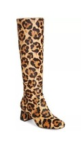 New COACH Britney Animal Print Hair Leopard Knee High Boots US 8.5B Leather #2 - $149.59